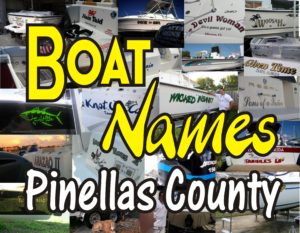 Boat Names in Pinellas County