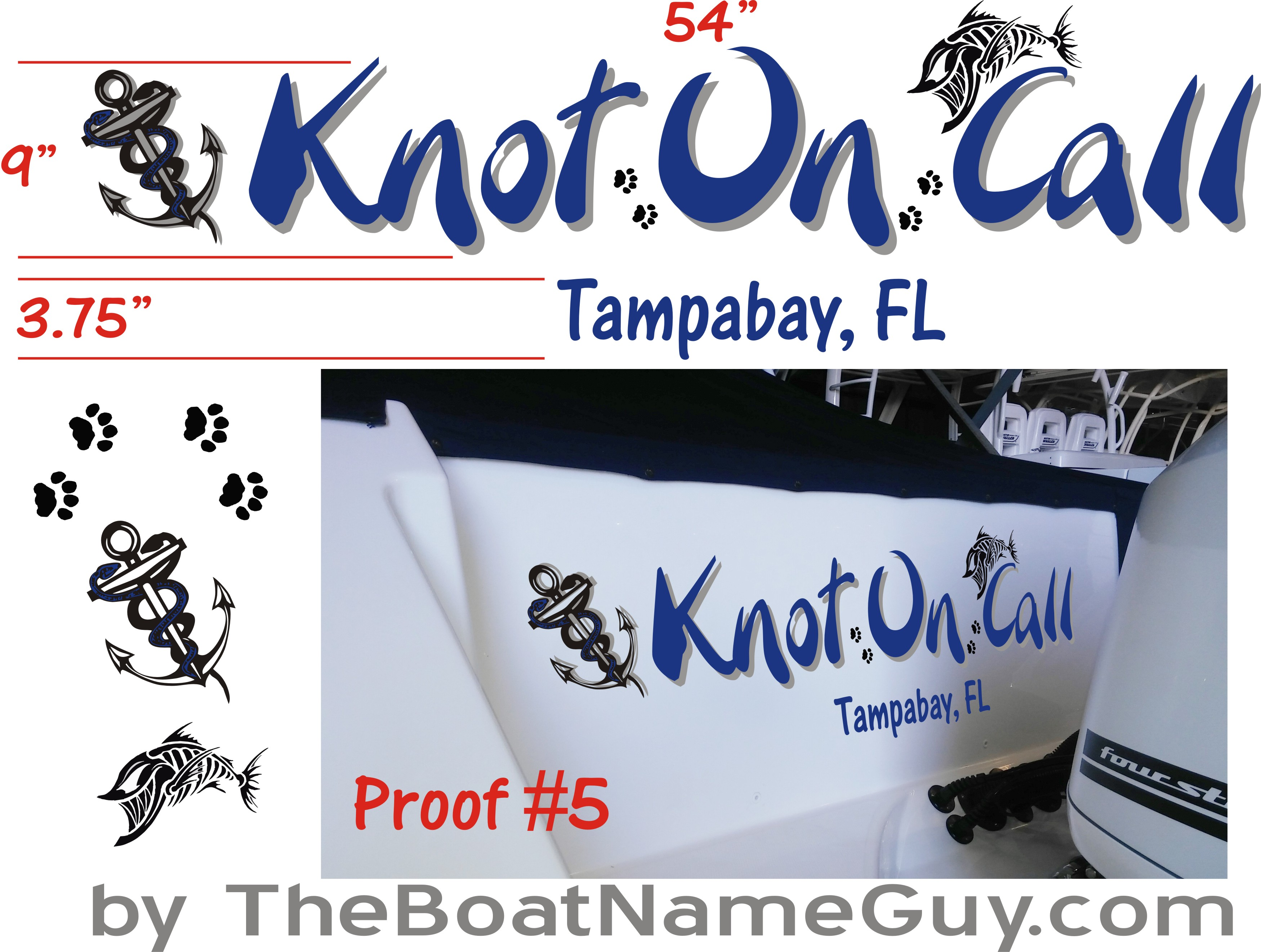 Approved Boat Name Proof Design Concept