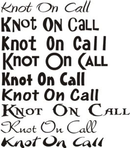 KNOT-ON-CALL-Fonts