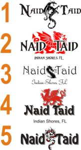 Naid Taid Boat Name Proofs