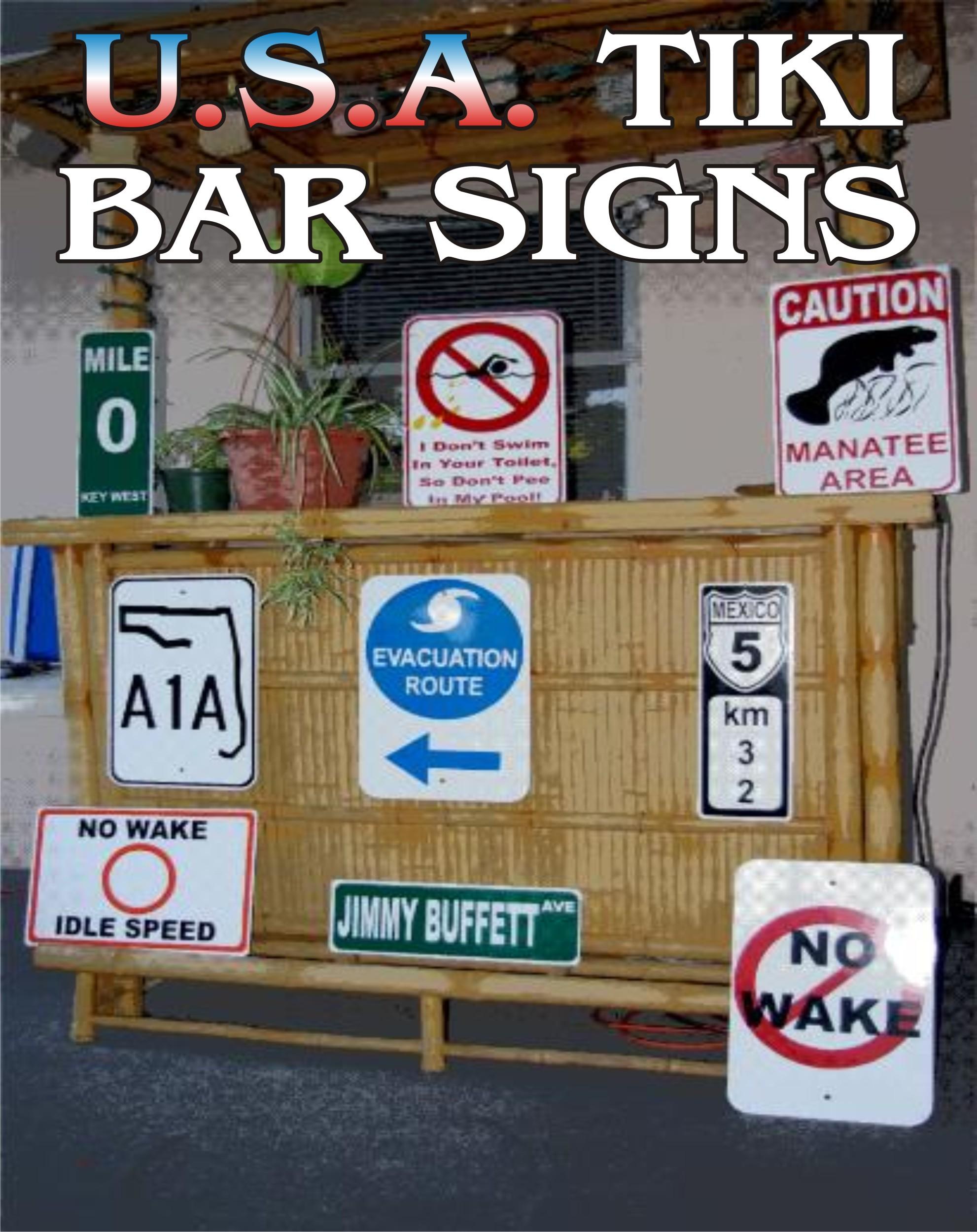 USA Tiki Bar Signs