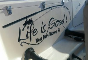 Boat Name Phrase Life is Good