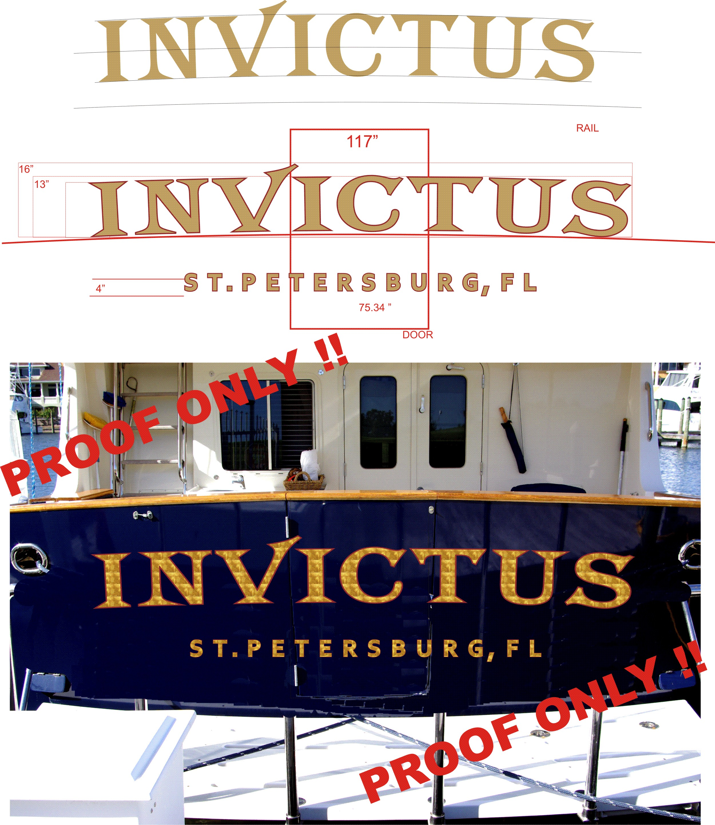 Florida boat name design install tampa clearwater st petersburg invictus proof only nvjuhfo Images