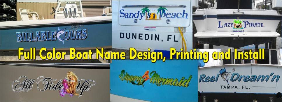 Boat Name Ideas Boat Names Design Install Tampa Clearwater