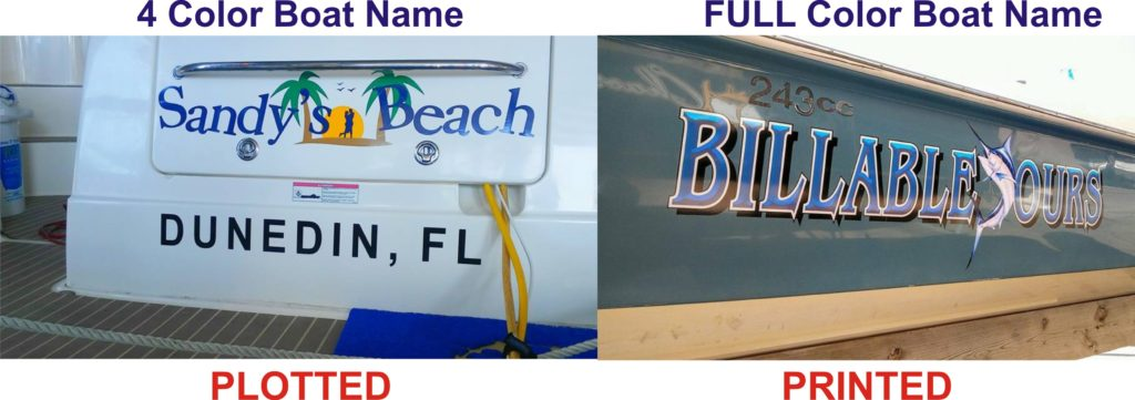 It Can Be Considered That Three To Four Colors On A Boat Name Logo Could Declared As Full Color If S All The Is Needed In Your