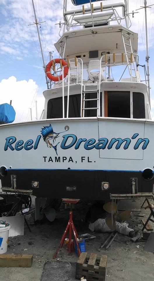 Reel Dreamin Boat name