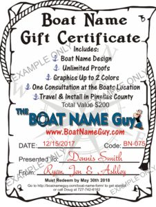 The Boat name gift that keeps giving!