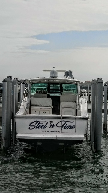 Boat Name in Clearwater Beach, Florida