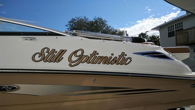 Still Optimistic Boat Name