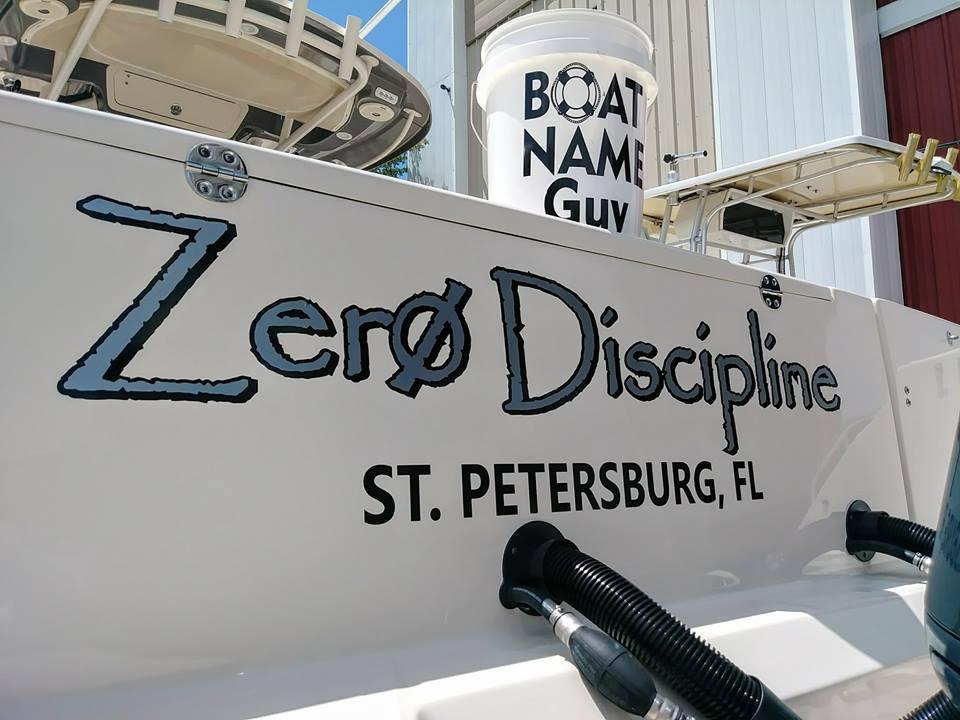 Zero Disipline boat name
