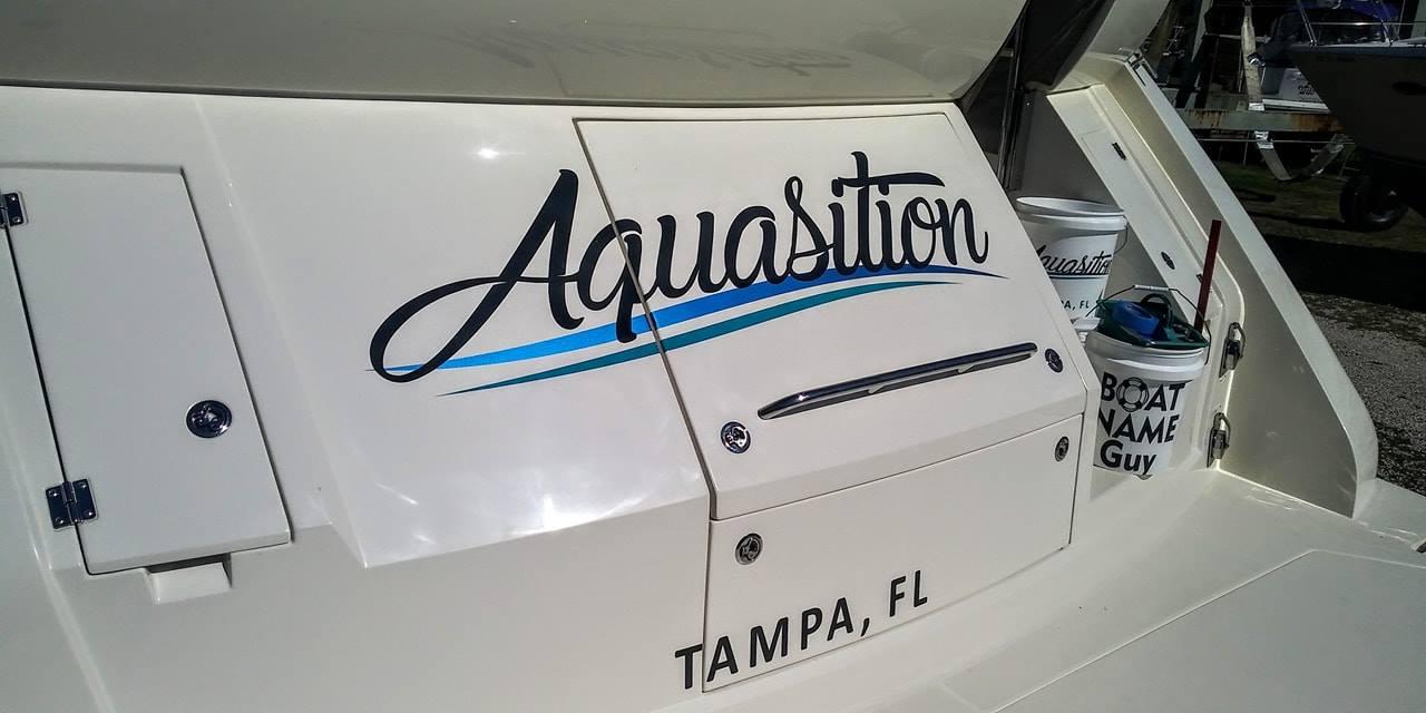 Aquasition Boat name