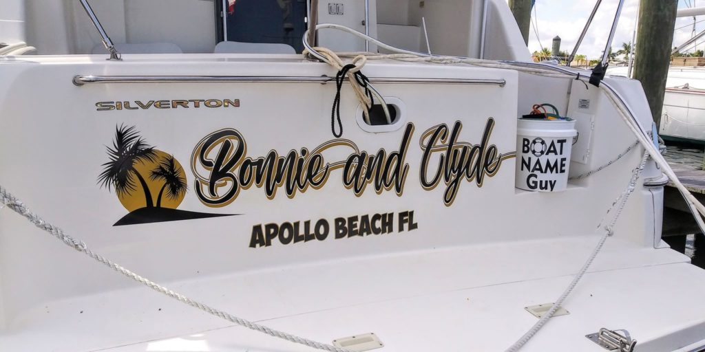 Bonnie and Clyde Boat Name