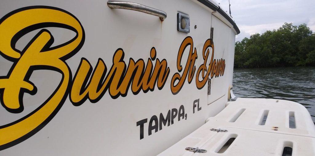 Burnin It Down Boat Name