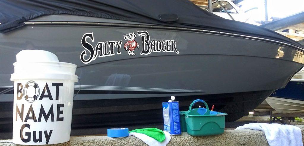 Salty Badger Boat Name